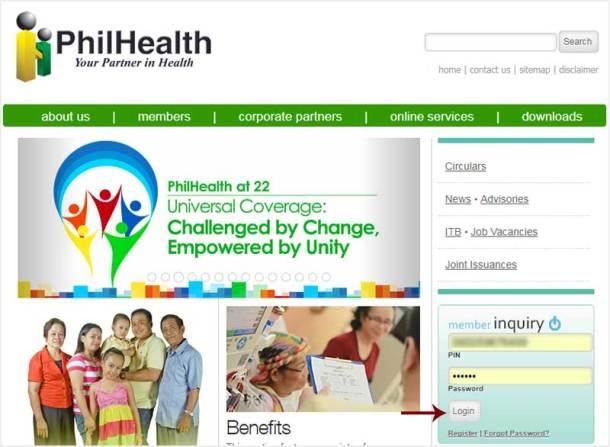 Step 1 PhilHealth Online Account