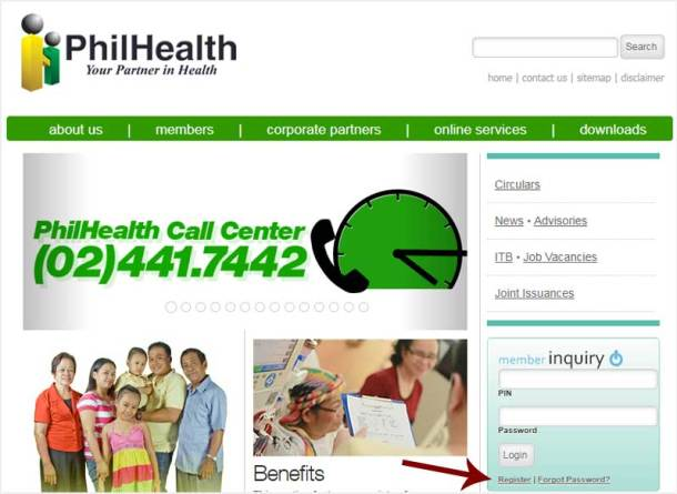 Step 1 PhilHealth Online Inquiry System
