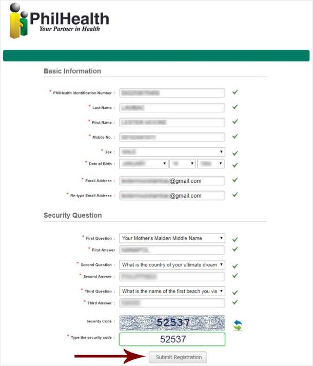 Step 2 PhilHealth Registration Form