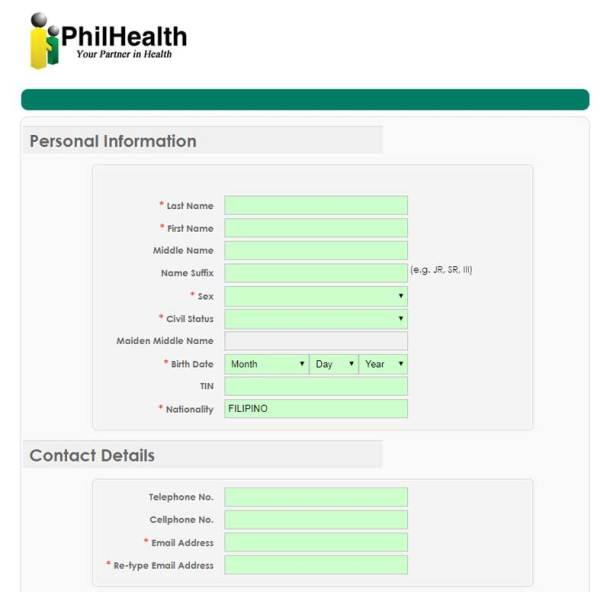 Step 3 PhilHealth Registration Form
