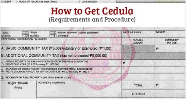 How to Get Cedula