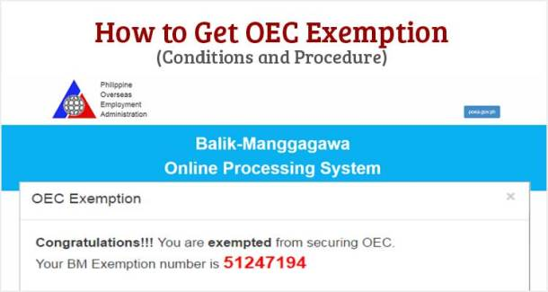 How to Get OEC Exemption
