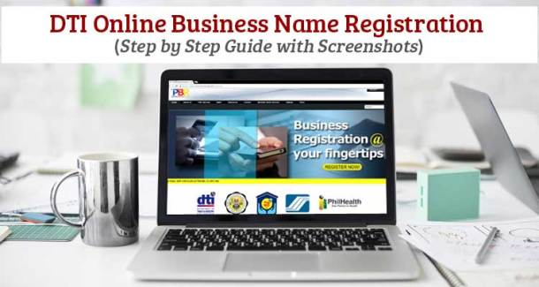 DTI Online Business Name Registration 2018 - with Screenshots