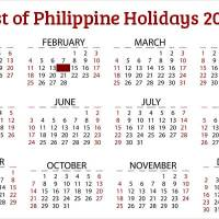 List of Philippine Holidays 2018