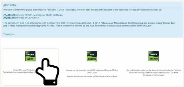 Step 1. Visit PSA Helpline Website