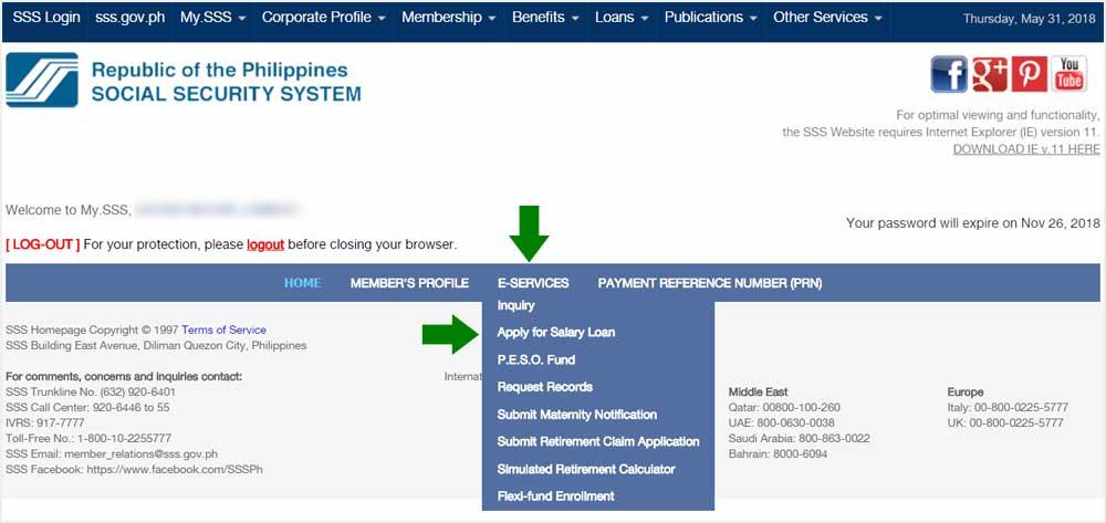 Application Salary Online Loan Sss