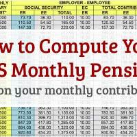 How to Compute SSS Pension Based on Your Monthly Contributions 2018