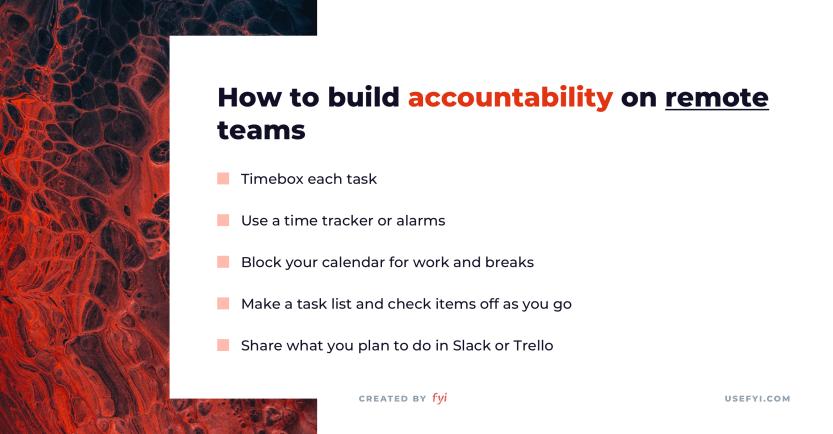 remote work accountability
