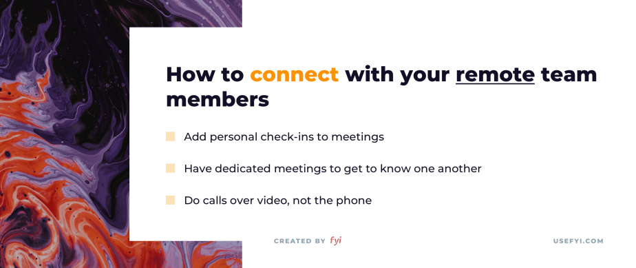 remote work connection