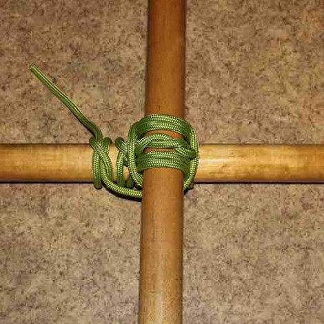 Square lashing step by step how to tie instructions