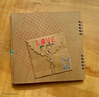Mama Elephant Love Quotes Carnival Cupcakes Mini Album Love Kraft paper