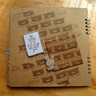 Mama Elephant Love Quotes Mini Album Love Kraft paper detail