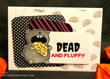 Useless Trinkets Terry, the Zombie Hamster Dead and fluffy halloween card