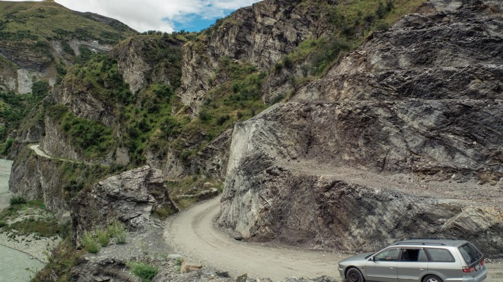 The Road of Skippers Canyon (New Zealand)