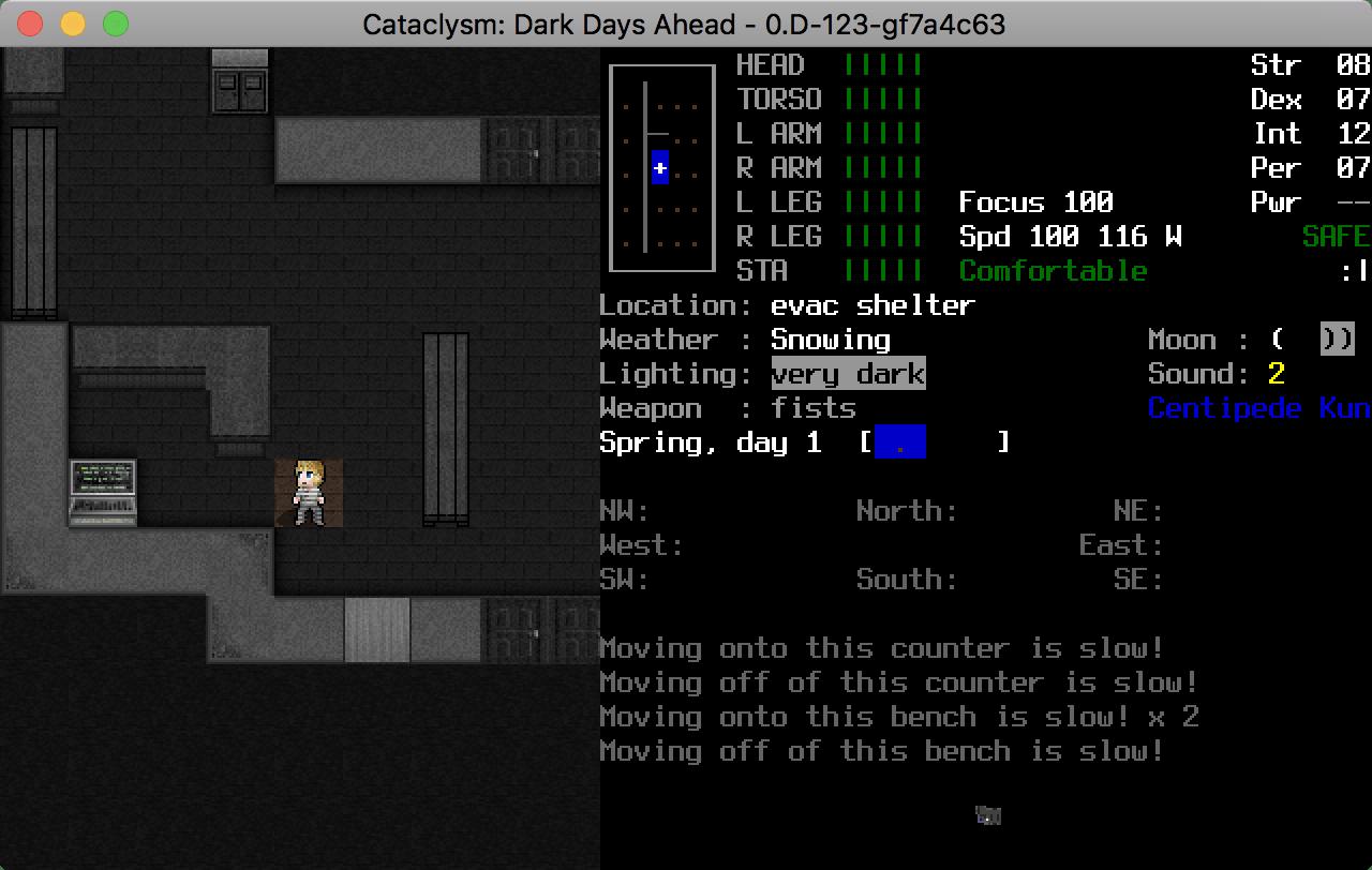 Screenshot of Cataclysm:DDA 0.D