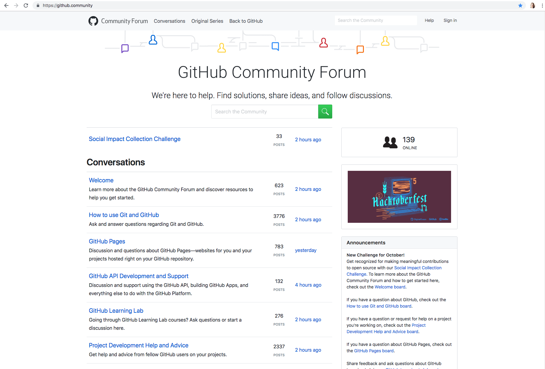 Take a look at the GitHub Community Forum