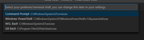wsl.exe as default terminal, crashes with exit code 1 ...
