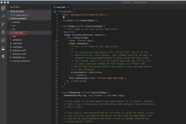 Menubar_and_main_dart_—_startup_namer_and_Test_drive_-_Flutter