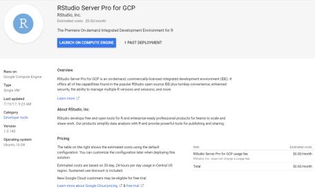 IDE in the Google Cloud Platform