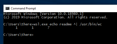 Quoting pipe commands with wsl.exe · Issue #3284 ...