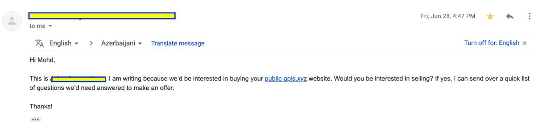Public APIs Acquire Email