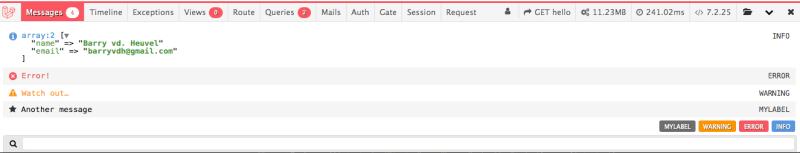 Debugbar 3.3 Screenshot