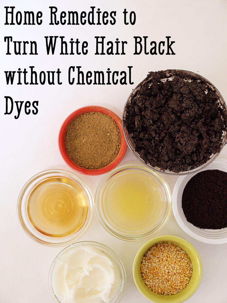 Home Remedies To Turn White Hair Black Without Chemical