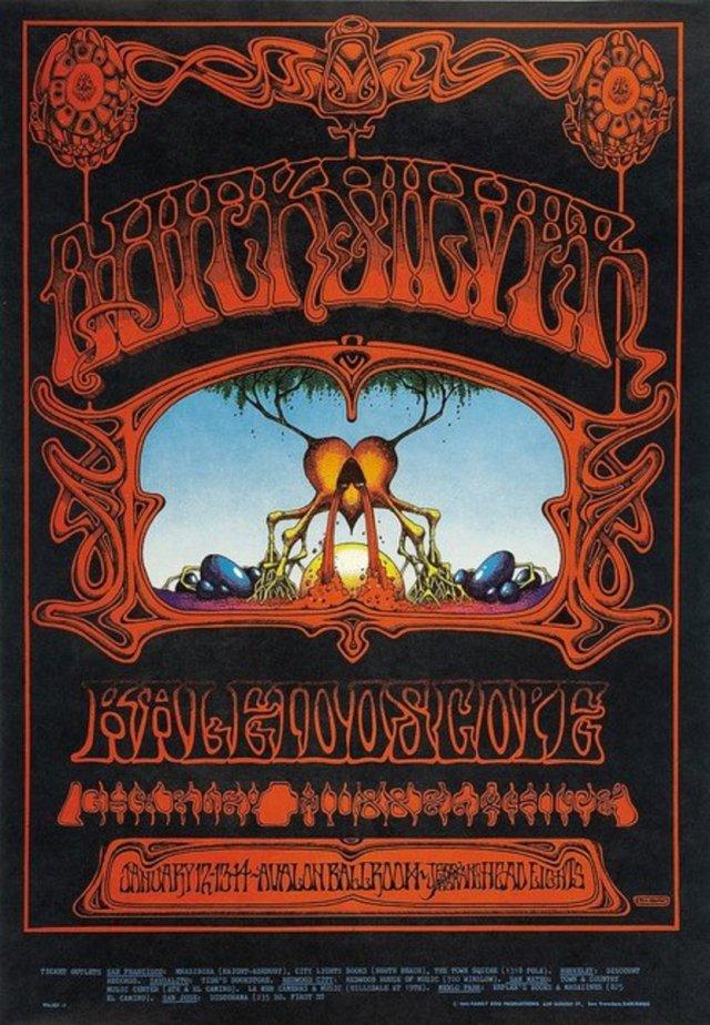 """Quicksilver Messenger Service, Kaleidoscope """"Eternal Reservoir"""" Avalon Ballroom Concert Poster Family Dog FD-101 (1968).Rick Griffin Poster Art"""