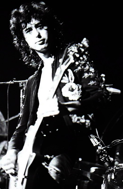 Jimmy Page (Led Zeppelin) with a Gibson Les Paul Standard