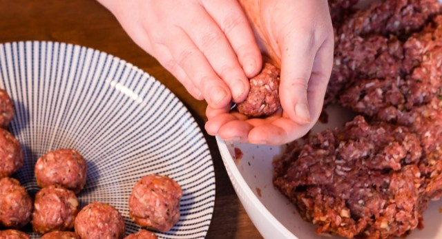 Image result for shaping meatballs
