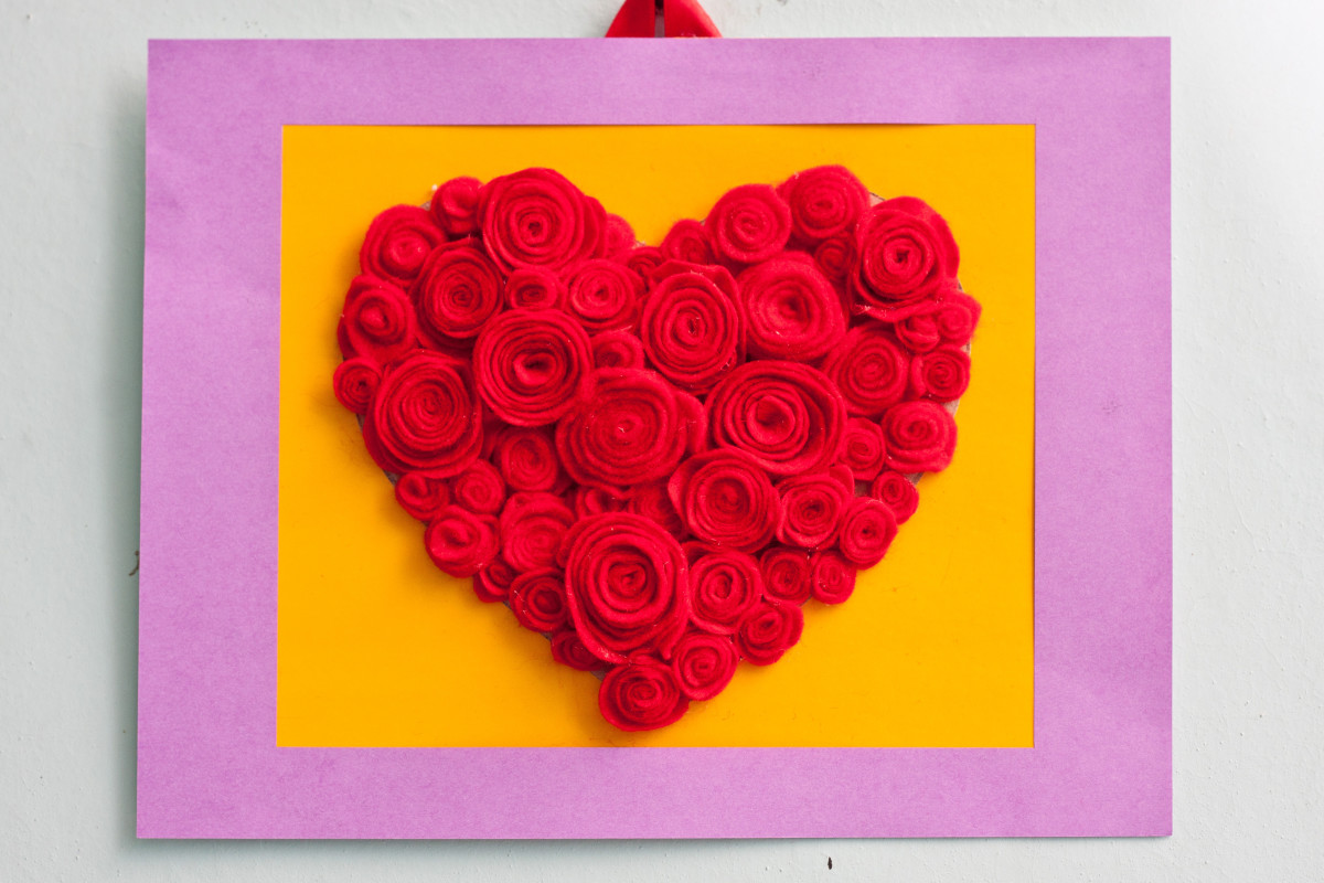 How To Make A Valentines Day Rose Heart Craft For Kids