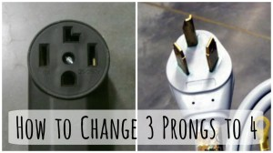 Changing a 3Prong Dryer Plug and Cord to a to 4Prong