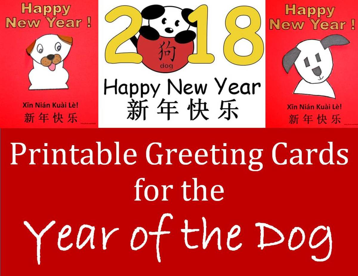Printable Greeting Cards For Year Of The Dog Kid Crafts