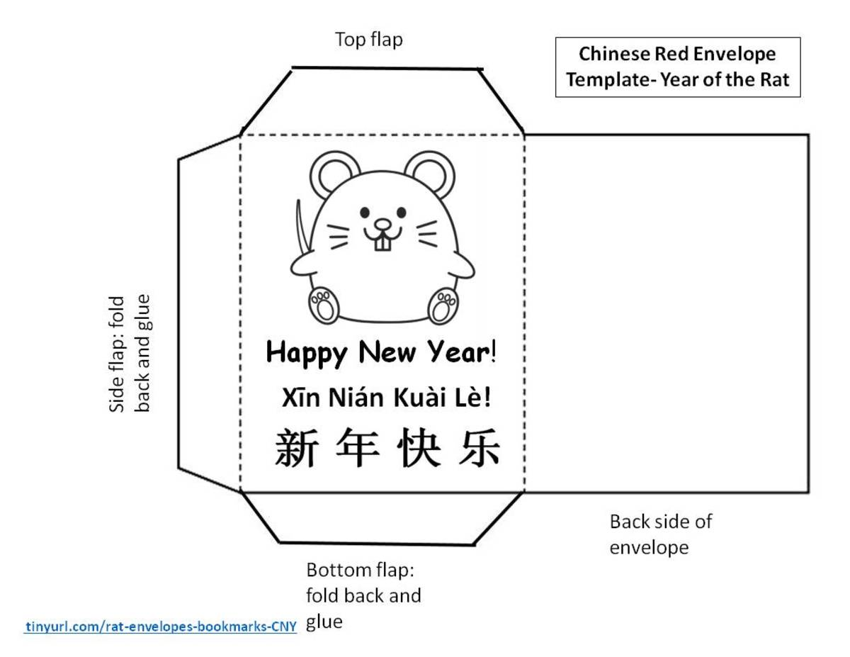 Printable Envelopes And Bookmarks For Year Of The Rat