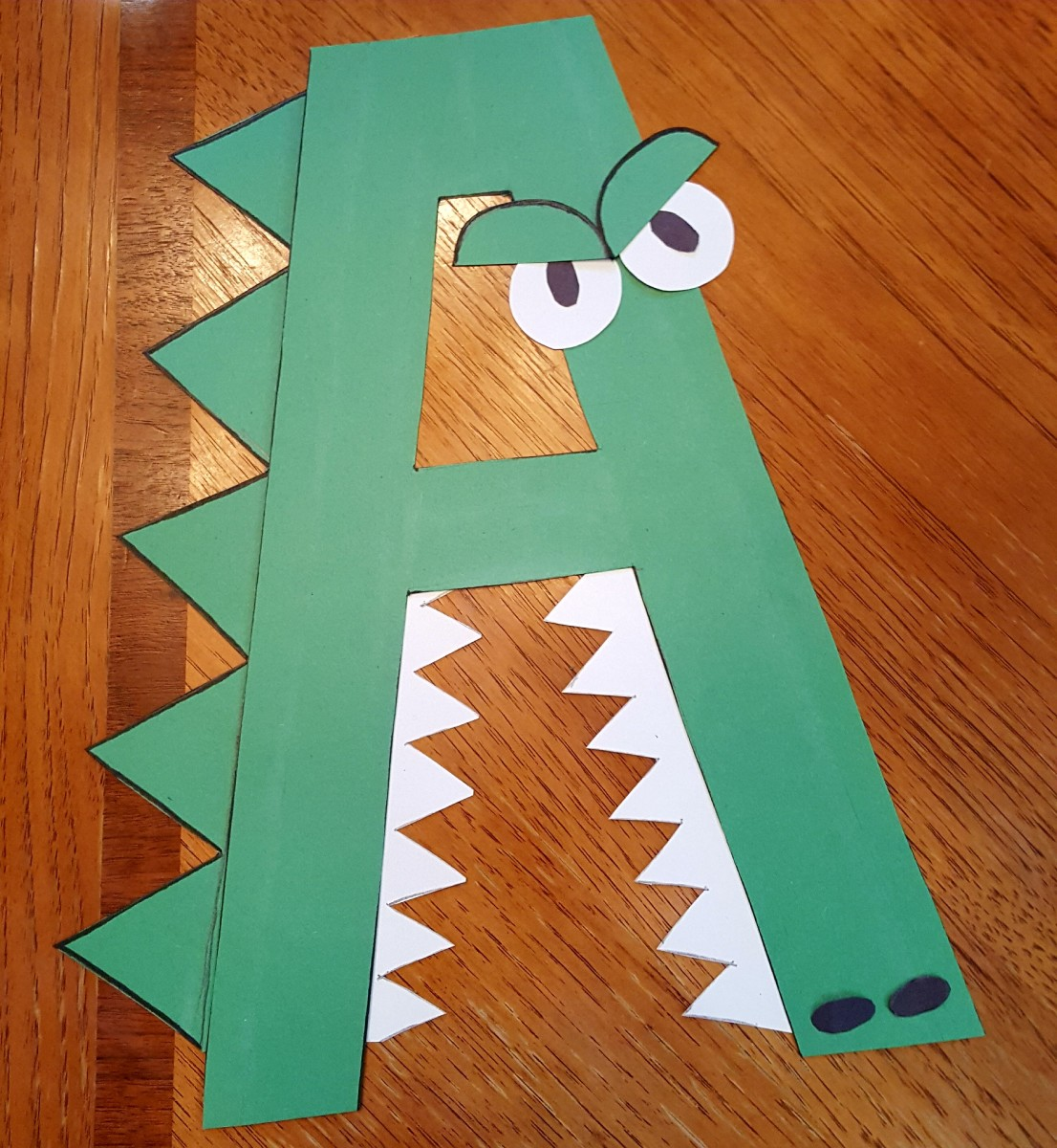 A Is For Alligator Alphabet Paper Craft For Kids