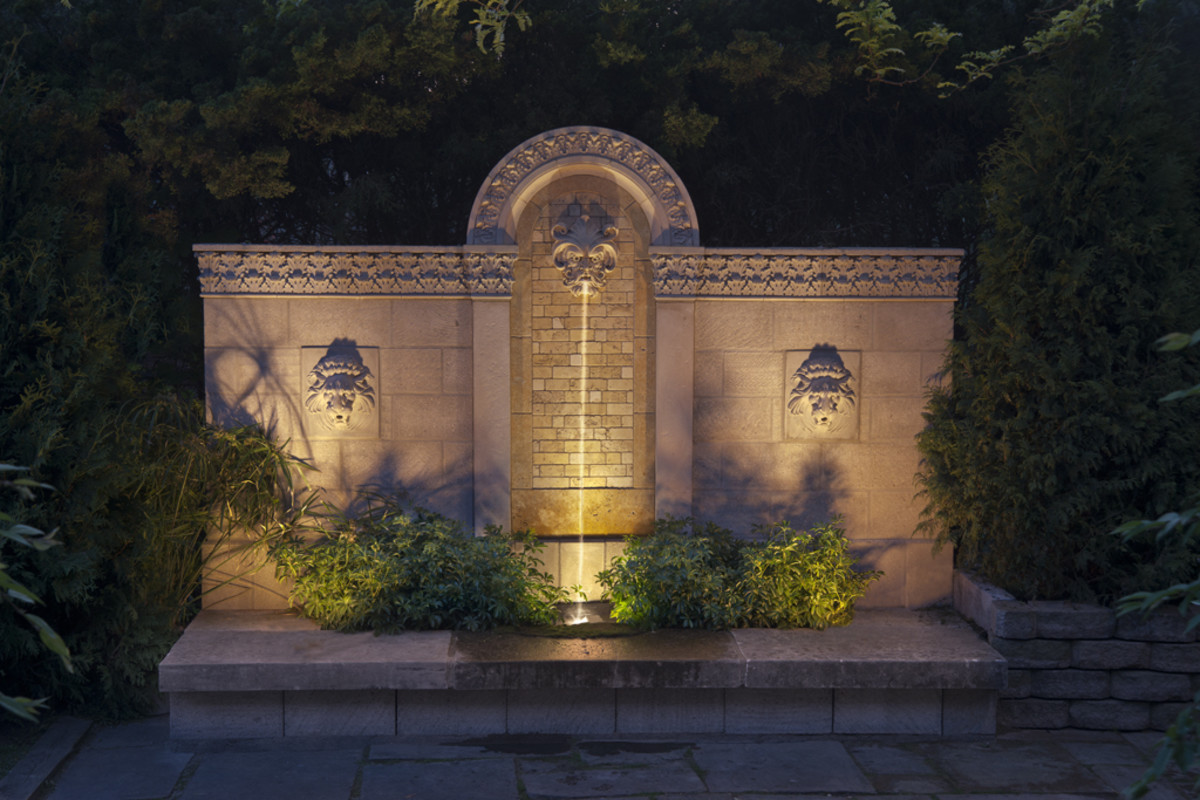 Home Improvement - Outdoor Wall Fountains with Tile ... on Backyard Feature Walls  id=16877