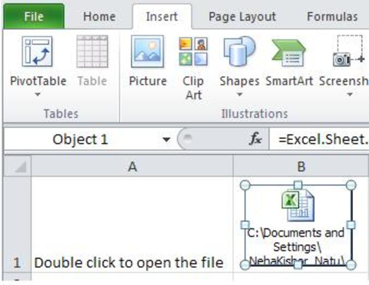 Tutorial Ms Excel How To Embed A File As An Object In
