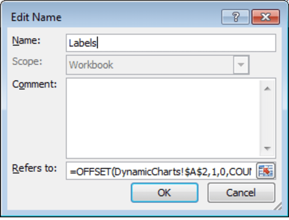 Creating Dynamic Charts Using The Offset Function And