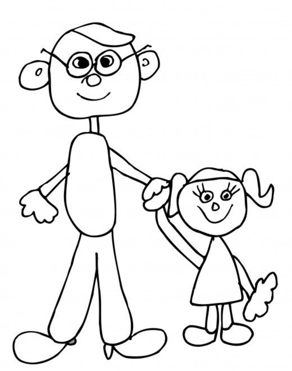 Fathers Day Coloring Pages HubPages
