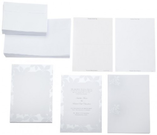 Whether classic white or exciting deep tones, today's printing can give you the look you envision for your Wedding Event.