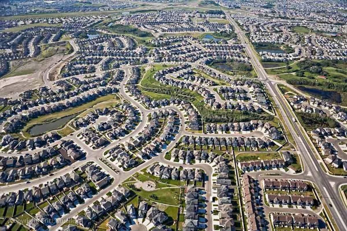 Ejemplo de dispersión urbana.
