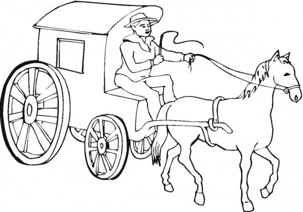 Western Cowboy Kids Colouring Pictures To Print And Colour