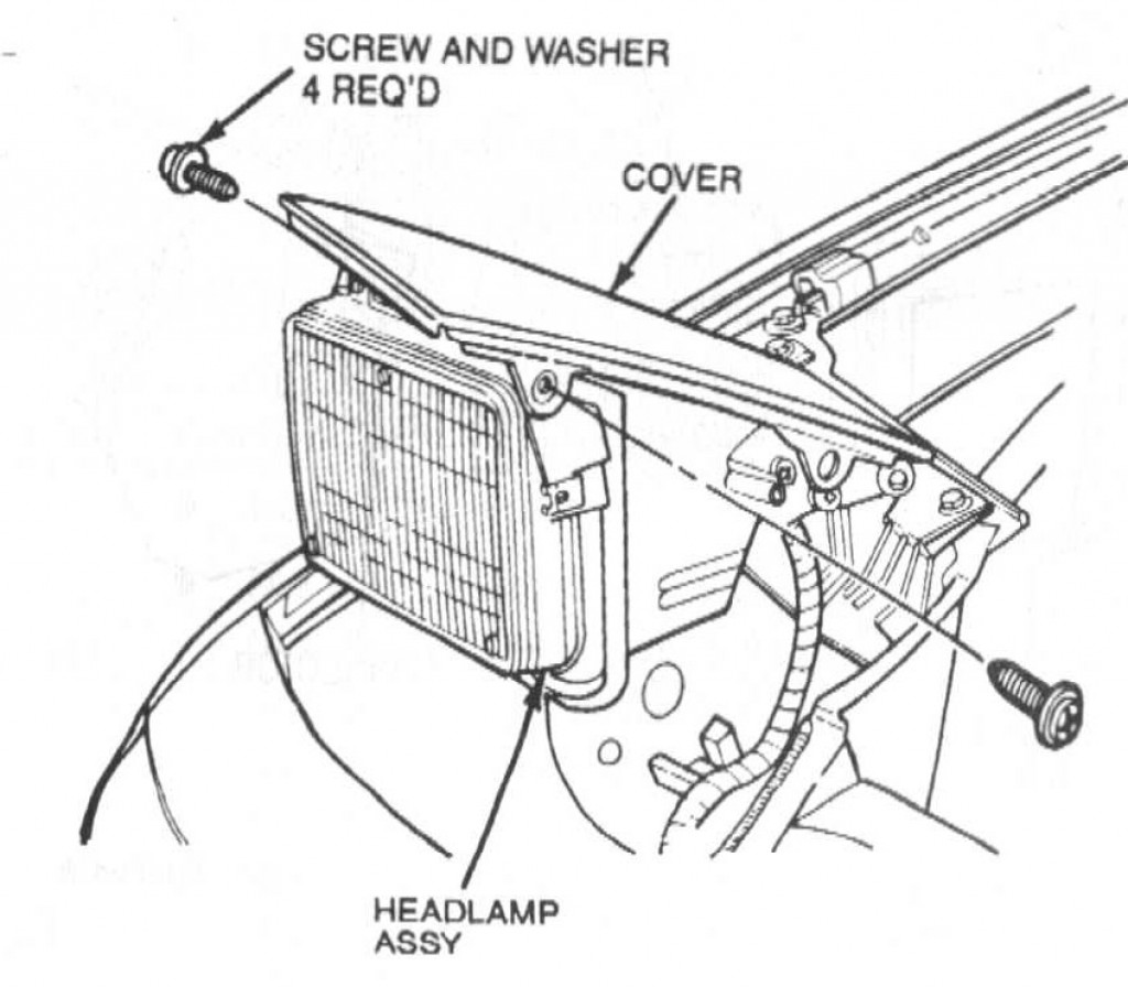 How To Remove A Headlight And Motor In A 94 Mercury Capri