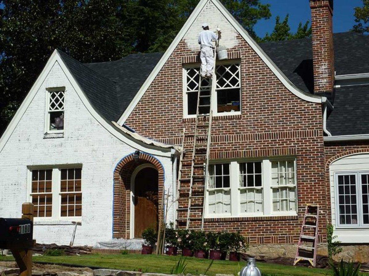 Painted Brick House Exterior on Brick House Painting Ideas  id=42602