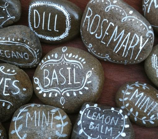 DIY herb markers