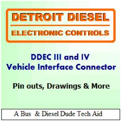 Detroit Diesel DDEC III and IV ECM Vehicle and Engine Connectors   AxleAddict