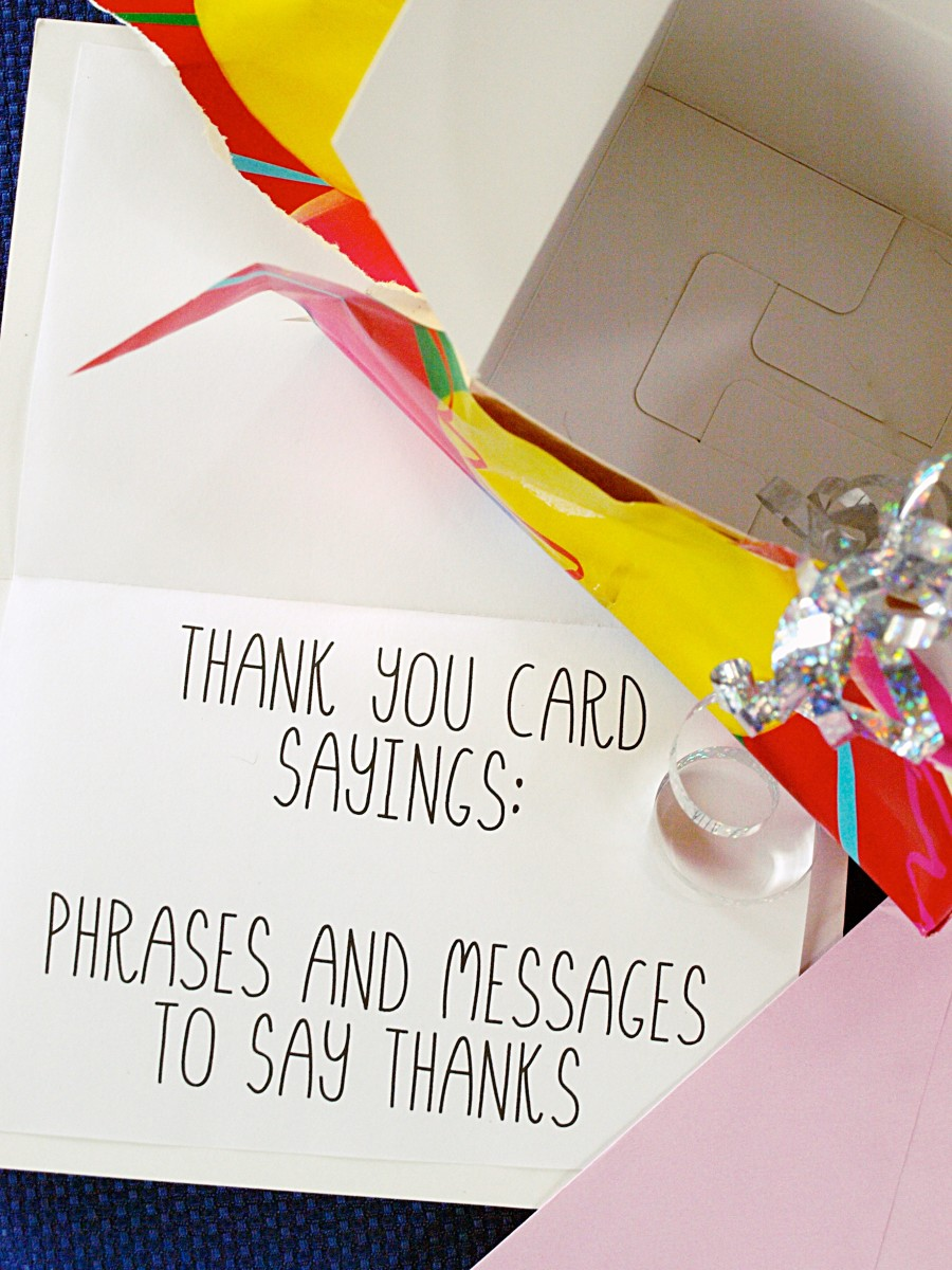 You Thank Card Say Words