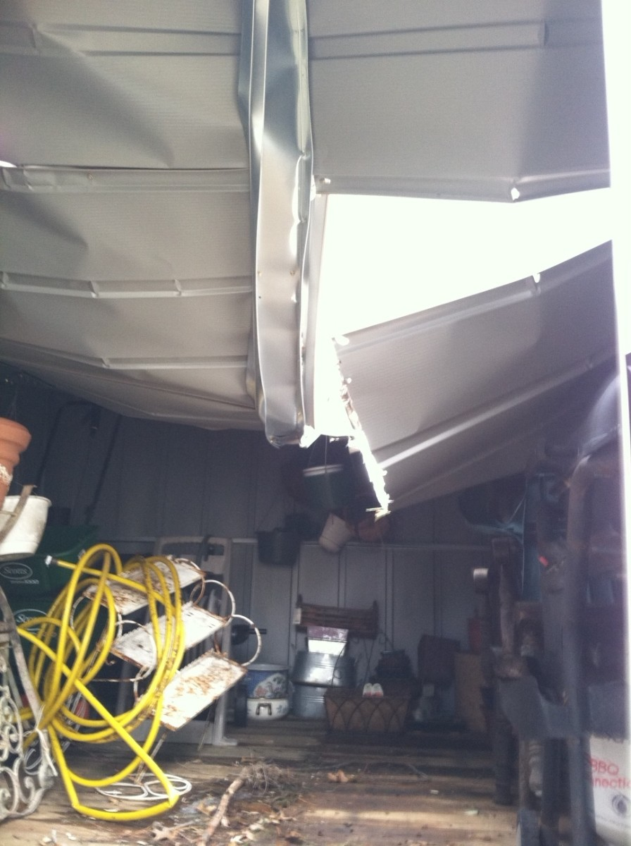 Fixing A Collapsed Storage Shed Arrow SR1012 HubPages
