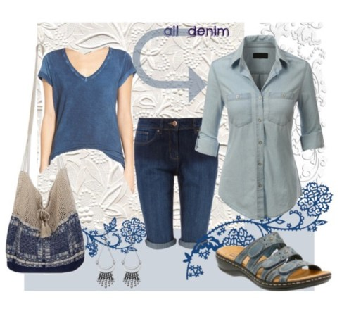 Summer Denim, Polyvore, and Fashion