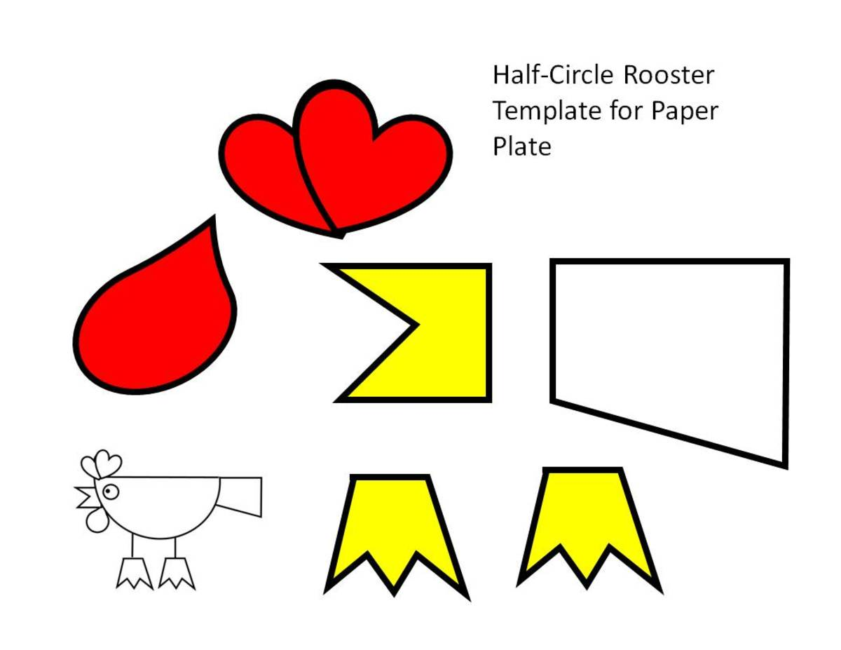 Printable Rooster Crafts For Kids